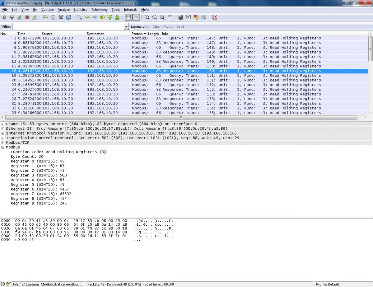 captura wireshark
