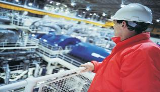 employee in a manufacturing plant